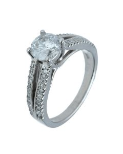 1.44 ct. t.w.t Diamond Side Stone Ring in 14k White Gold