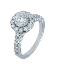 2.87 ct. t.w.t Diamond Side Stone Ring in 18k White Gold
