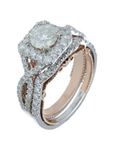 2.28 ct. t.w.t Diamond Side Stone Ring in 14k White Gold/Rose Gold/Yellow Gold