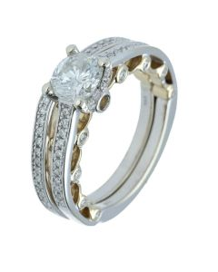 1.68 ct. t.w.t Diamond Side Stone Ring in 14k White Gold