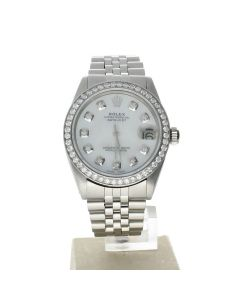 Rolex DateJust 31 Stainless-steel 6824 Mother-of-Pearl Dial Women's 31-mm Automatic-self-wind Sapphire crystal. Swiss Made Wrist Watch