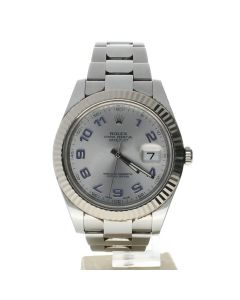 Rolex DateJust 41 Stainless-steel 116334 Silver Dial Men's 41-mm Automatic-self-wind Sapphire crystal. Swiss Made Wrist Watch