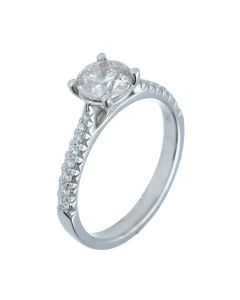 1.09ct Round Diamond 18k White Gold Rings - 202297