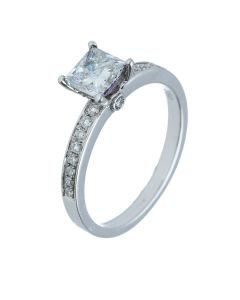1.18ct Princess Diamond 18k White Gold Rings - 202298
