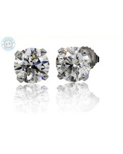 0.84ct t.w.t. Round Diamond 14K White Gold Stud Earring