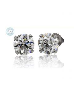 0.98ct t.w.t. Round Diamond Stud in 14K White Gold