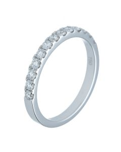 0.35ct Round Diamond 18k White Gold Bands - 202375