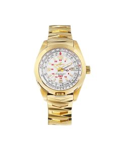 The Abingdon Co Aviation Series Anniversary Edition Amelia In CROWNING GOLD Leather and Stainless Steel Bands Women's Wristwatch