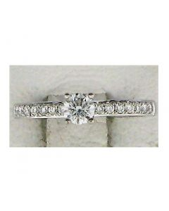 0.4ct Round Diamond 18k WG Rings - 187766