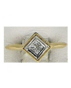 0.12ct Princess Diamond 14k YG Rings - 187751