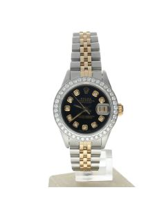 Rolex DateJust 26 Steel-and-18k-gold 69173 Champagne Dial Women's 26-mm Manual Sapphire crystal. Swiss Made Wrist Watch