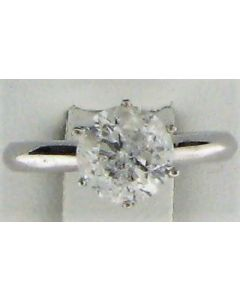 1.6ct Round Diamond 14k WG Solitaire Ring - 187707