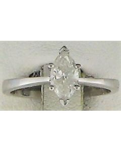 0.7ct Marquise Diamond 14k WG Solitaire Ring - 187717