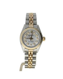 Rolex Oyster Perpetual Stainless-steel 6724 Mother-of-Pearl Dial Women's 26-mm Automatic-self-wind Sapphire crystal. Swiss Made Wrist Watch
