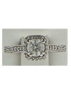 0.15ct Round Diamond 18k WG Rings - 187564