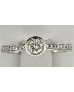 0.49ct Round Diamond 18k WG Rings - 187574
