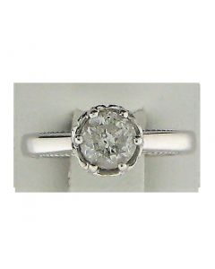 1.31ct Round Diamond 18k WG Rings - 187575