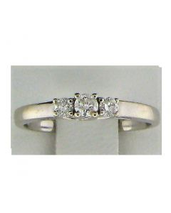 0.24ct Round Diamond 14k WG Rings - 187576