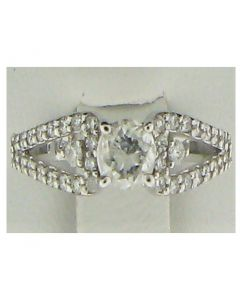0.85ct Round Diamond 14k WG Rings - 187589