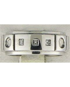 0.15ct Princess Diamond 14k WG Bands - 187600