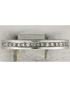 0.56ct Princess Diamond 14k WG Bands - 187628