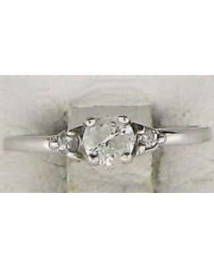 0.45ct Round Diamond 14k WG Rings - 187774