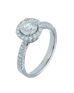 1.55 ct. t.w.t Diamond Halo Ring in 18k White Gold-202279