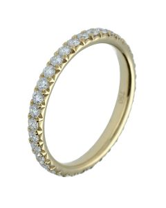 0.76 ct. t.w.t Diamond Half Eternity Band in 18k Yellow Gold-202429