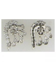 Cluster Earring 0.96ct Round diamond in 14k WG