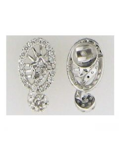 0.62ct Diamond Round Cluster Earring in 14k WG