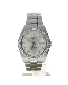 Rolex Oyster Perpetual Stainless-steel 15274 Silver Dial Women's 34-mm Automatic-self-wind Sapphire crystal. Swiss Made Wrist Watch