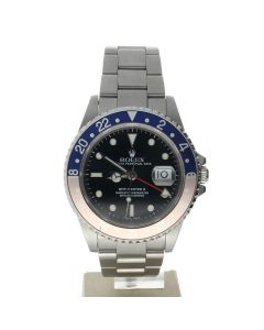 Rolex GMT-Master II Stainless-steel 16710 Black Dial Mens 40-mm Automatic self-wind Sapphire crystal. Swiss Made Wrist Watch
