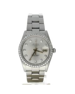 Rolex Date 34 Stainless-steel 1500 Silver Dial Women's 34-mm Automatic Watch
