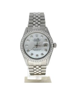 Rolex Datejust 36 Stainless-steel 1603 Mother-of-Pearl Dial Men's 36-mm Automatic Watch