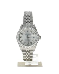 Rolex DateJust 26 Stainless-steel 69160 Silver Dial Womens 26-mm Automatic self-wind Sapphire crystal. Swiss Made Wrist Watch