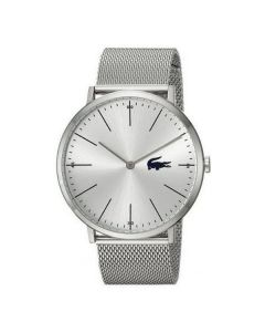 Lacoste Moon Stainless-steel 2010901 Silver Dial Mens 40-mm Quartz Mineral crystal.  Wrist Watch