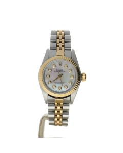 Rolex Oyster Perpetual 26 Stainless-steel 67193 Mother-of-Pearl Dial Womens 26-mm Automatic self-wind Sapphire crystal. Swiss Made Wrist Watch