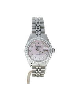 Rolex DateJust 26 Stainless-steel 6917 Mother-of-Pearl Dial Womens 26-mm Automatic self-wind Sapphire crystal. Swiss Made Wrist Watch