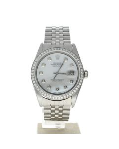 Rolex DateJust 36 Stainless-steel 1601 Mother-of-Pearl Dial Mens 36-mm Automatic Watch
