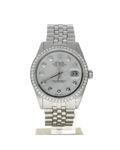 Rolex DateJust 36 Stainless-steel 1603 Mother-of-Pearl Dial Mens 36-mm Automatic Watch