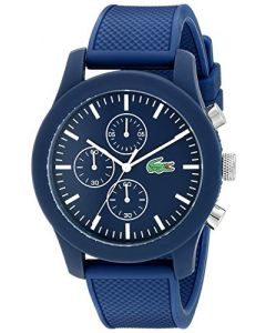 Lacoste Lacoste.12.12 Plastic 2010824 Blue Dial Mens 44-mm Quartz Mineral crystal. Designed in France Wrist Watch