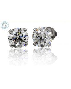 1.00 Ct. T.W. Diamond Studs In 14 Karat White Gold-201754