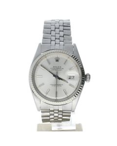 Rolex Datejust 36 Stainless-steel 1601 Silver Dial Men's 36-mm Automatic-self-wind Sapphire crystal. Swiss Made Watch