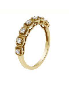 0.25 Ct. T.W. Diamond Band In 18 Karat Yellow Gold