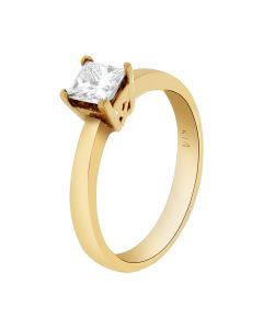 0.56 Ct. T.W. Diamond Ring In 14 Karat Yellow Gold