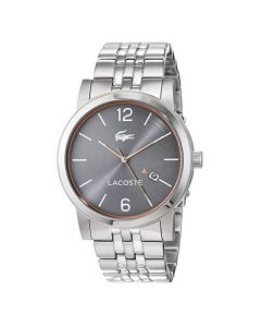 Lacoste Metro Stainless-steel 2010927 Grey Dial Mens 42-mm Quartz Mineral crystal.  Wrist Watch