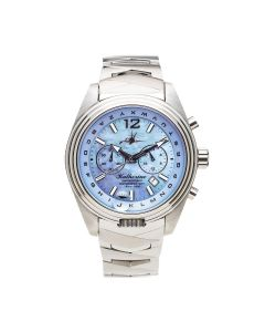 The Abingdon Co Katherine Stainless-steel KA-SBLU Mother-of-Pearl Dial Womens Watch