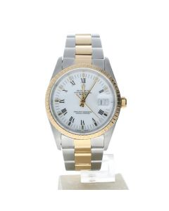 Rolex Date 34 Stainless-steel 15223 White Dial Men's 34-mm Automatic-self-wind Sapphire crystal. Swiss Made Wrist Watch