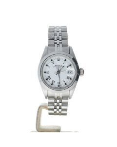 Rolex Date 26 Stainless-steel 69160 White Dial Women's 26-mm Automatic-self-wind Watch