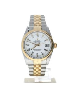 Rolex DateJust 31 Stainless-steel 6824 White Dial Women's 31-mm Automatic-self-wind Sapphire crystal. Swiss Made Wrist Watch